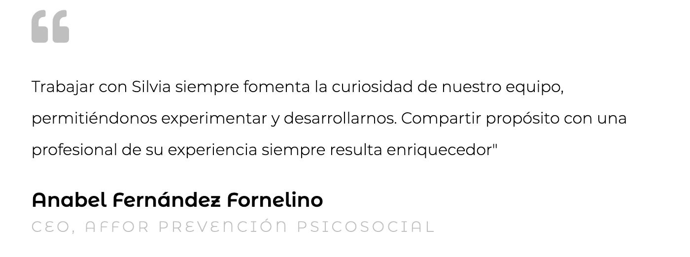 Silvia Oceransky Cultura Preventiva opiniones Asistencia Técnica Anabel Fernandez Fornelino