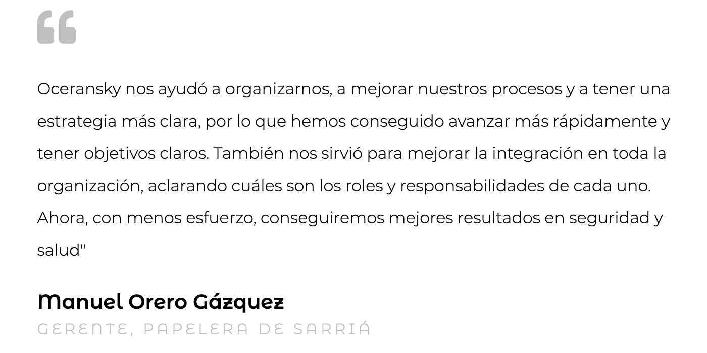 Silvia Oceransky Cultura Preventiva opiniones Asistencia Técnica Manuel Orero Gazquez