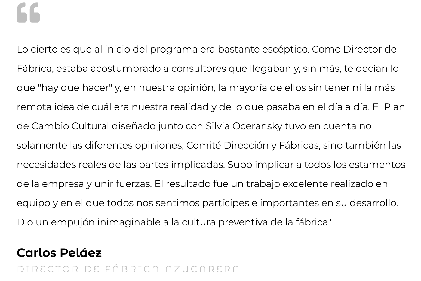 Silvia Oceransky Cultura Preventiva opiniones Cultura Organizacional Carlos Pelaez