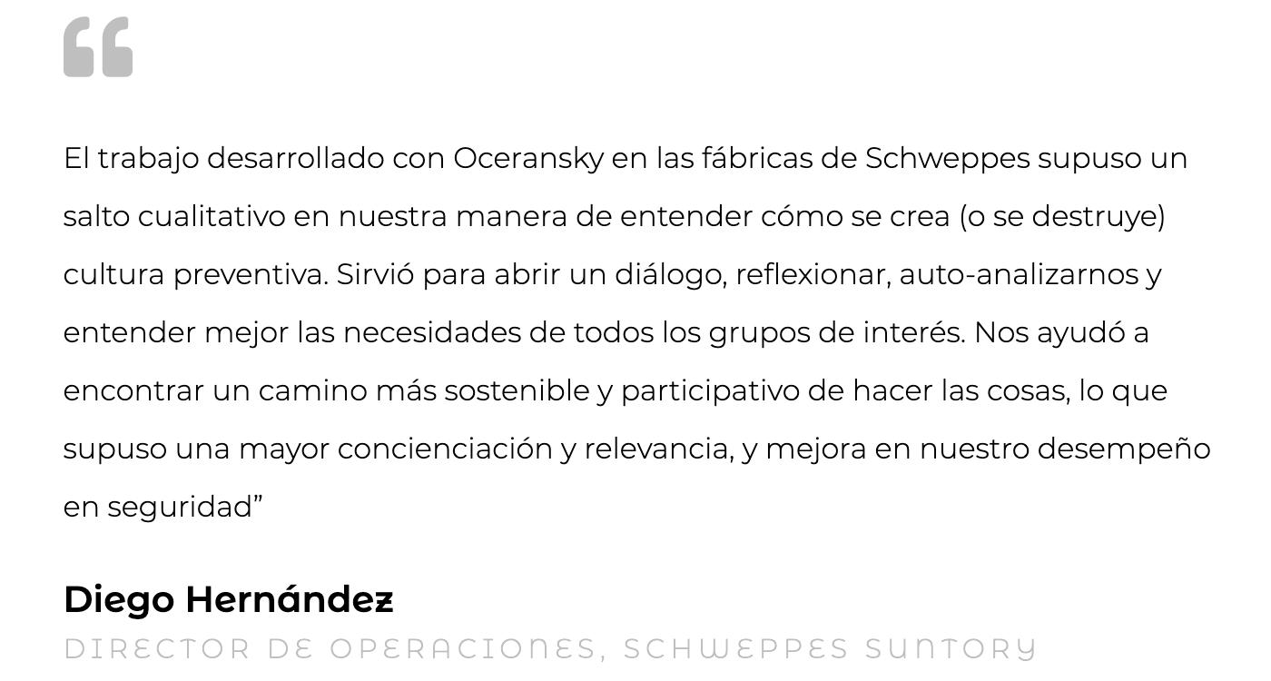 Silvia Oceransky Cultura Preventiva opiniones Cultura Organizacional Diego Hernández