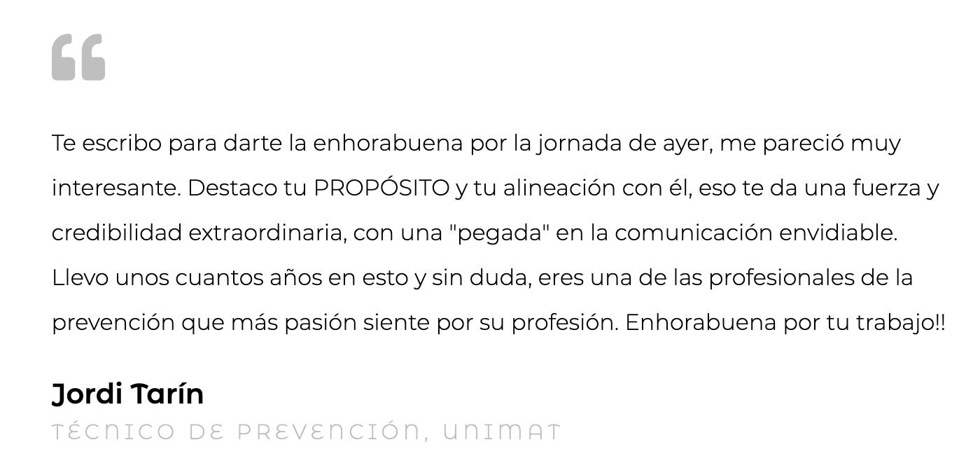 Silvia Oceransky Cultura Preventiva opiniones Formacion Jordi Tarin