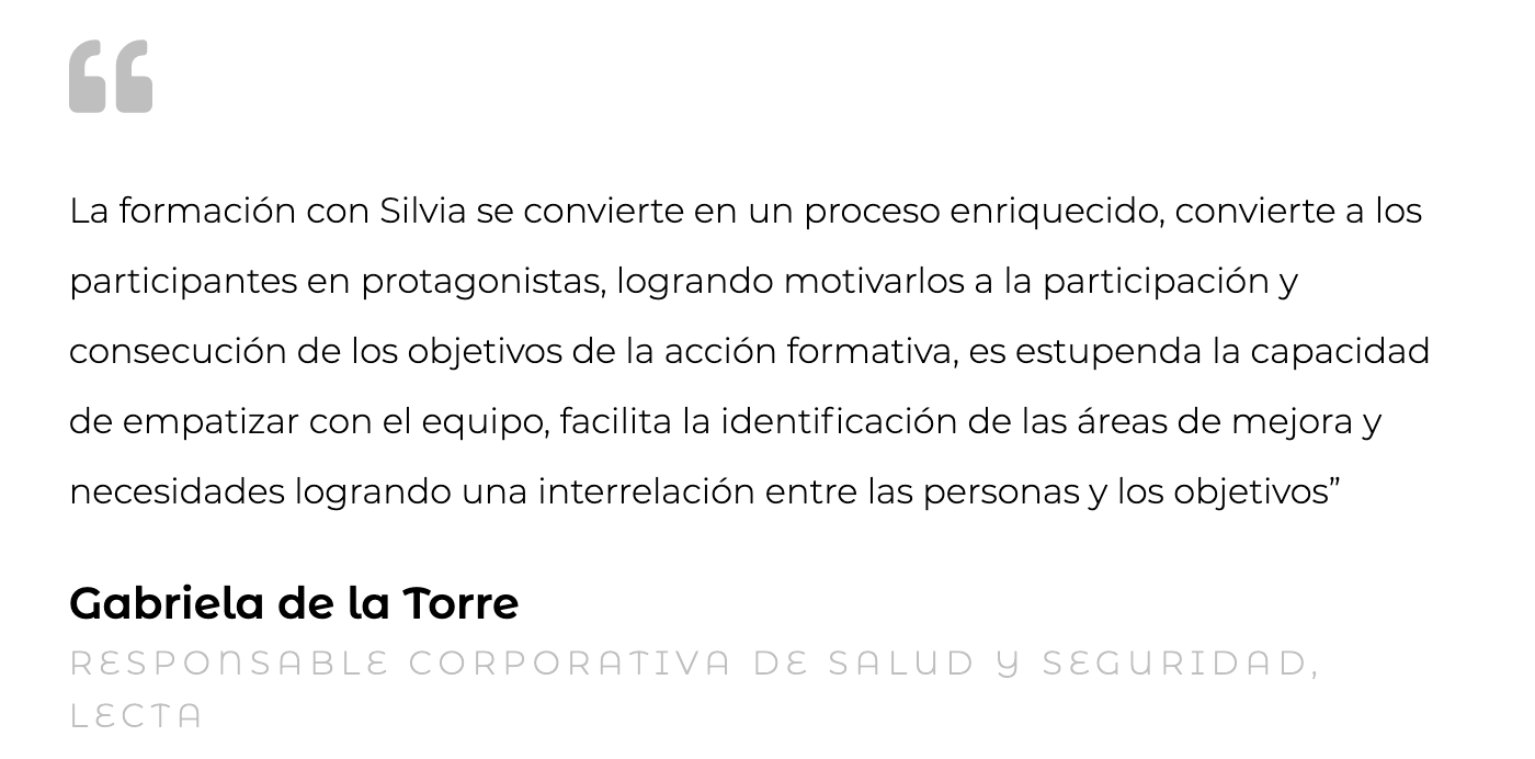 Silvia Oceransky Cultura Preventiva opiniones Gabriela de la Torre