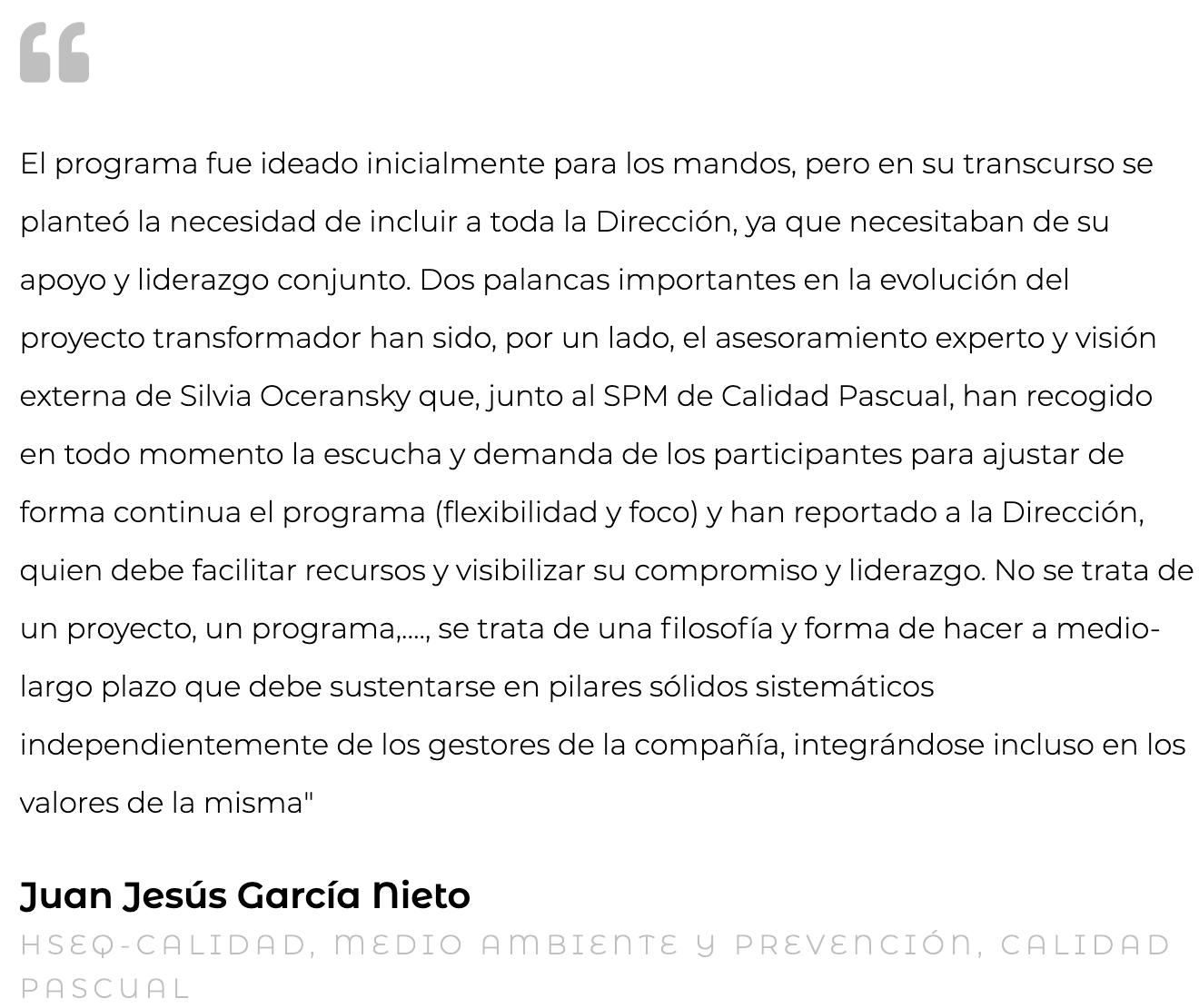 Silvia Oceransky Cultura Preventiva opiniones cultura organizacional Juan Jesus Garcia Nieto