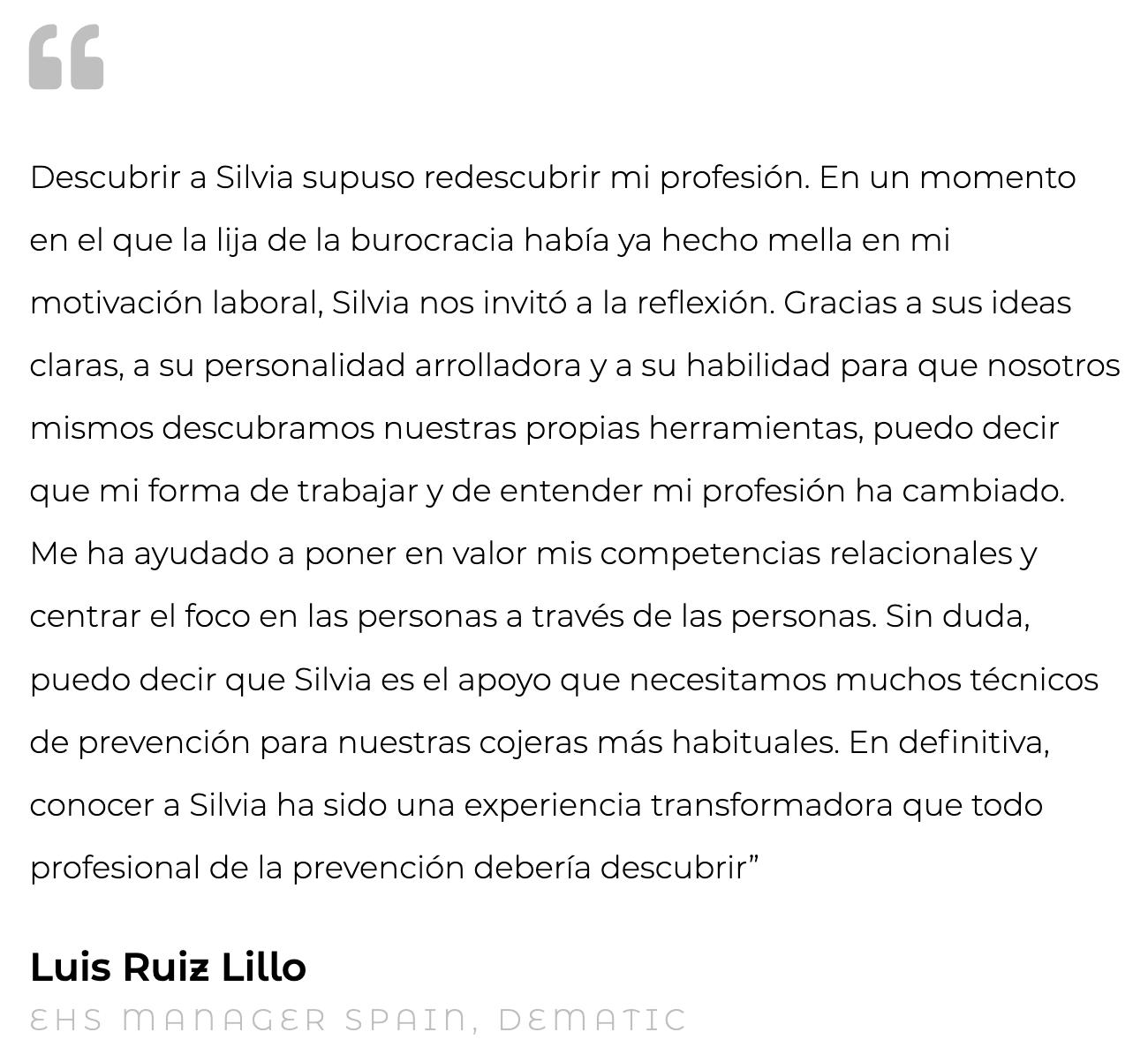 Silvia Oceransky Cultura Preventiva opiniones formacion Luis Ruiz Lillo