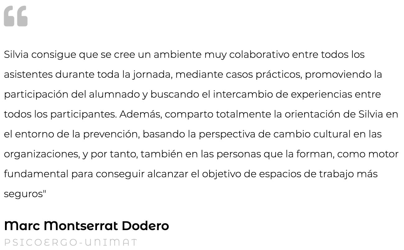 Marc Montserrat formación Oceransky Cultura Preventiva