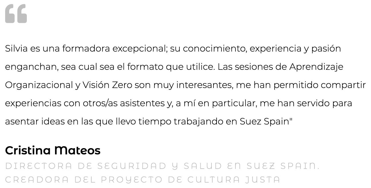 Silvia Oceransky Cultura Preventiva opiniones formacion Cristina Mateos