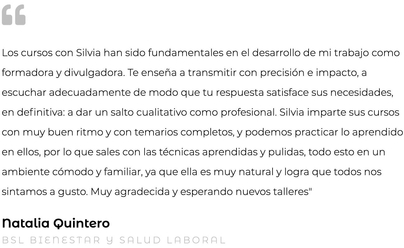 Silvia Oceransky Cultura Preventiva opiniones formacion Natalia Quintero